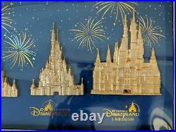 2019 Disney D23 Expo WDI the Castles of the Disney Parks Pin Set LE 300
