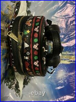 2019 Disney Parks Christmas Holiday Food Icons Snack mini Loungefly Backpack NWT