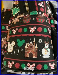 2019 Disney Parks Christmas Holidays Treats Snacks Loungefly Backpack Bag NEW
