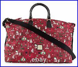 2019 Disney Parks Dooney & Bourke Christmas Holiday Luggage Weekender Bag NEW