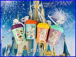 2020 Disney Park Starbucks 4 Set MK AK HS EP Park Icons Tumbler Mug Ornament New