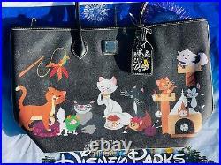 2020 Disney Parks Dooney & Bourke Reining Cats & Dogs Cat Pattern Tote Bag