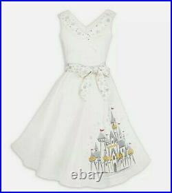2020 Disney Parks Dress Shop Christmas Holiday Castle White Dress Small S