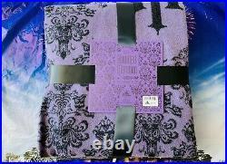 2020 New Disney Parks Haunted Mansion Purple Wallpaper Blanket Throw 60 x 72