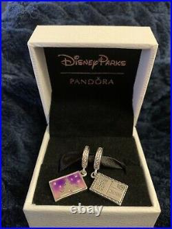 2020 New Rare Disney Parks Pandora Postcard Castle Wish You Were Here Charm