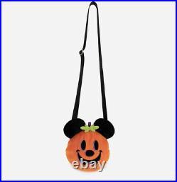 2021 Disney Parks Harveys Halloween Mickey Mouse Pumpkin Plush Crossbody Bag