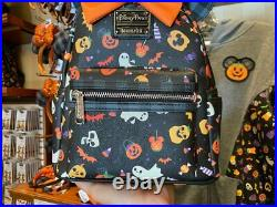 2021 Disney Parks Loungefly Minnie Mouse Halloween Mini Backpack NEW