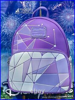 2021 Disney Parks Magic Kingdom Purple Wall Loungefly Mini Backpack
