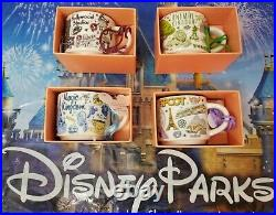 4 Park Coffee Mug ORNAMENT Set WDW Disney Starbucks Been There Series 2019 New