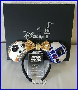 Disney MINNIE Droid Ear Headband Ashley Eckstein Her Universe STAR WARS in Hands