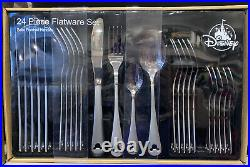 Disney Parks 24 Piece Flatware Set Icon Mickey Mouse New in Box