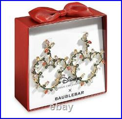 Disney Parks BaubleBar Mickey Mouse Christmas Holiday Lights Earrings