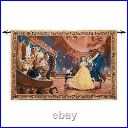 Disney Parks Beauty & The Beast Tapestry Wall Hanging Throw New Sealed