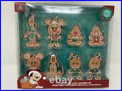 Disney Parks Christmas 2020 Mickey & Friends Gingerbread Cookies Ornament Set