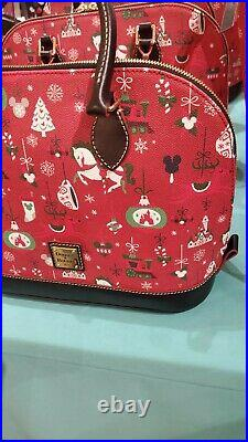 Disney Parks Christmas Holiday 2019 Satchel by Dooney & Bourke Actual Shown