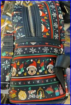Disney Parks Christmas Holiday Attractions Castle Loungefly Mini Backpack 2020