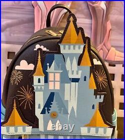 Disney Parks Cinderella Castle Fantasyland Mini Loungefly Backpack NWT