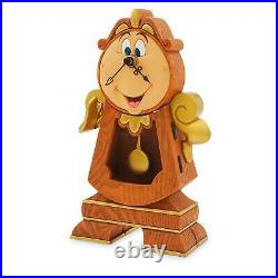 Disney Parks Cogsworth Clock Beauty and the Beast Figure Figurine Clock New
