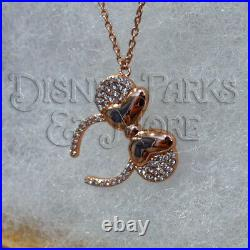 Disney Parks Disneyland Jewelry Minnie Mouse Rose Gold Ears Necklace Adjustable