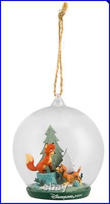 Disney Parks Disneyland Paris Fox And The Hound Tod Copper Christmas Ornament