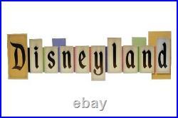 Disney Parks Disneyland VINTAGE PARK ENTRANCE MARQUEE Large Sign NEW 36x11