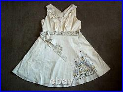 Disney Parks Dress Shop Christmas Holiday Castle White Dress Fantasyland PLUS1X