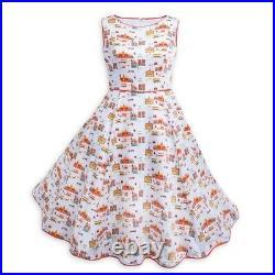 Disney Parks Dress Shop Main Street, U. S. A. White Costume Dress Size L Large