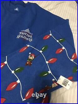 Disney Parks Epcot Festival Of The Holidays 2019 Chip & Dale Spirit Jersey New