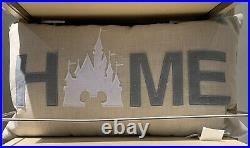 Disney Parks Exclusive 27 HOME Pillow Sleeping Beauty Castle New With Tag