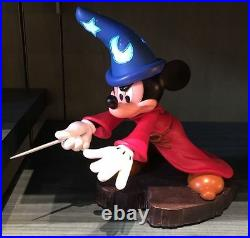 Disney Parks Exclusive Sorcerer Apprentice Mickey Mouse Light-Up Figure NEW