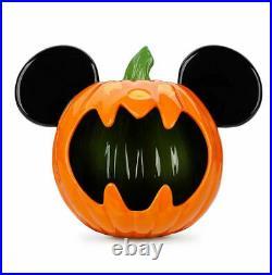Disney Parks Halloween 2020 Mickey Pumpkin Ears Candy Bowl Illuminary FREE SHIP