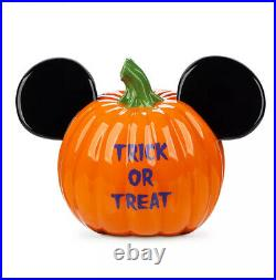 Disney Parks Halloween 2020 Mickey Pumpkin Ears Candy Bowl Illuminary Home Decor