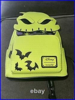 Disney Parks Halloween 2021 Oogie Boogie Glow In Dark Loungefly Backpack NEW