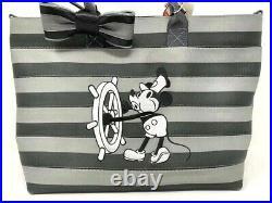 Disney Parks Harveys Steamboat Willie Medium Streamline Tote Bow Minnie Mouse