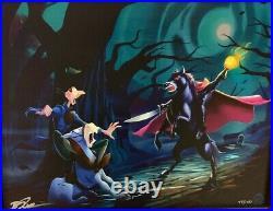 Disney Parks Ichabod Crane Headless Horseman LE Framed Giclee by Brett Owens New