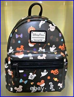 Disney Parks Loungefly HALLOWEEN 2020 Snacks Mini Backpack Bag NEW