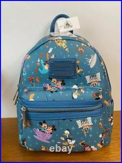 Disney Parks Loungefly Mickey Mouse And Friends Mini Backpack NWT
