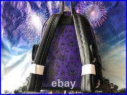 Disney Parks Loungefly Purple Wallpaper Mini Haunted Mansion Backpack New