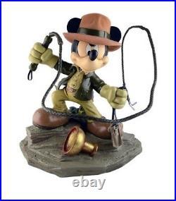 Disney Parks Mickey As Indiana Jones Big Medium Figure Resin New With Box