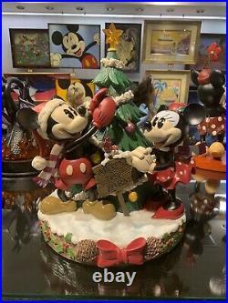 Disney Parks Mickey & Minnie Christmas Mickey's Tree Farm Statue Big Fig Figure
