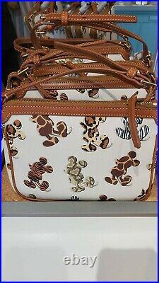 Disney Parks Mickey Mouse Silhouette Animal Print Crossbody Bag Dooney & Bourke