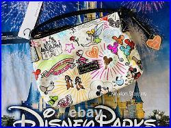 Disney Parks NEW Sketch Nylon Crossbody Bag Purse Dooney & Bourke Actual Shown
