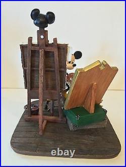 Disney Parks Self Portrait Mickey Mouse and Walt Disney Figurine New in Box