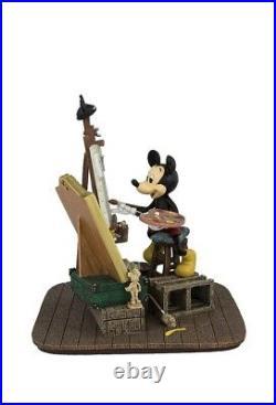 Disney Parks Self Portrait Mickey Mouse and Walt Disney Figurine New with Box