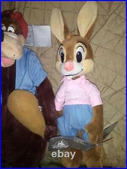 Disney Parks Splash Mountain Brer Rabbit Fox and Bear 17 Plush Set of 3 NWT