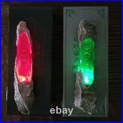 Disney Parks Star Wars Galaxy's Edge Green & Red Kyber Crystal Light Up Set