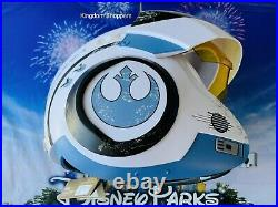 Disney Parks Star Wars Galaxy's Edge White Poe X-Wing Pilot Helmet WithSounds New