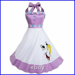 Disney Parks The Dress Shop Beauty & Beast Mrs. Potts & Chip Women's Dress NEW