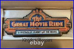 Disney Parks The Great Movie Ride Sign Disney World Hollywood Studios