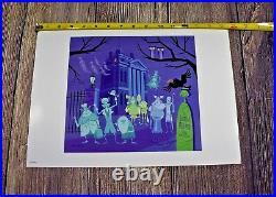 Disney Parks Walt Disney World Haunted Mansion HM 40th Anniversary SHAG Print